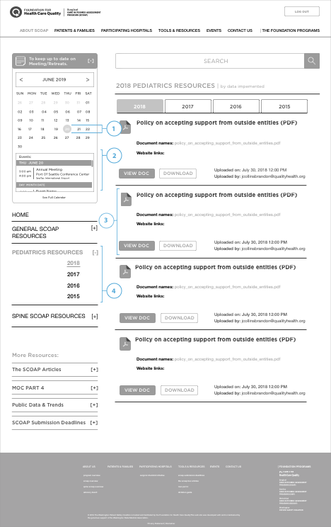 scoap-member-dashboard-resources-page-wireframe